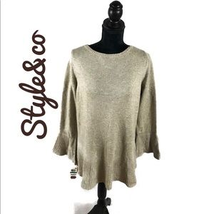 Super stylish bell sleeved sweater by style &co